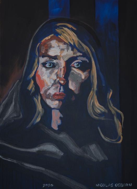 Femme au Foulard Painting Nicolas Osborn