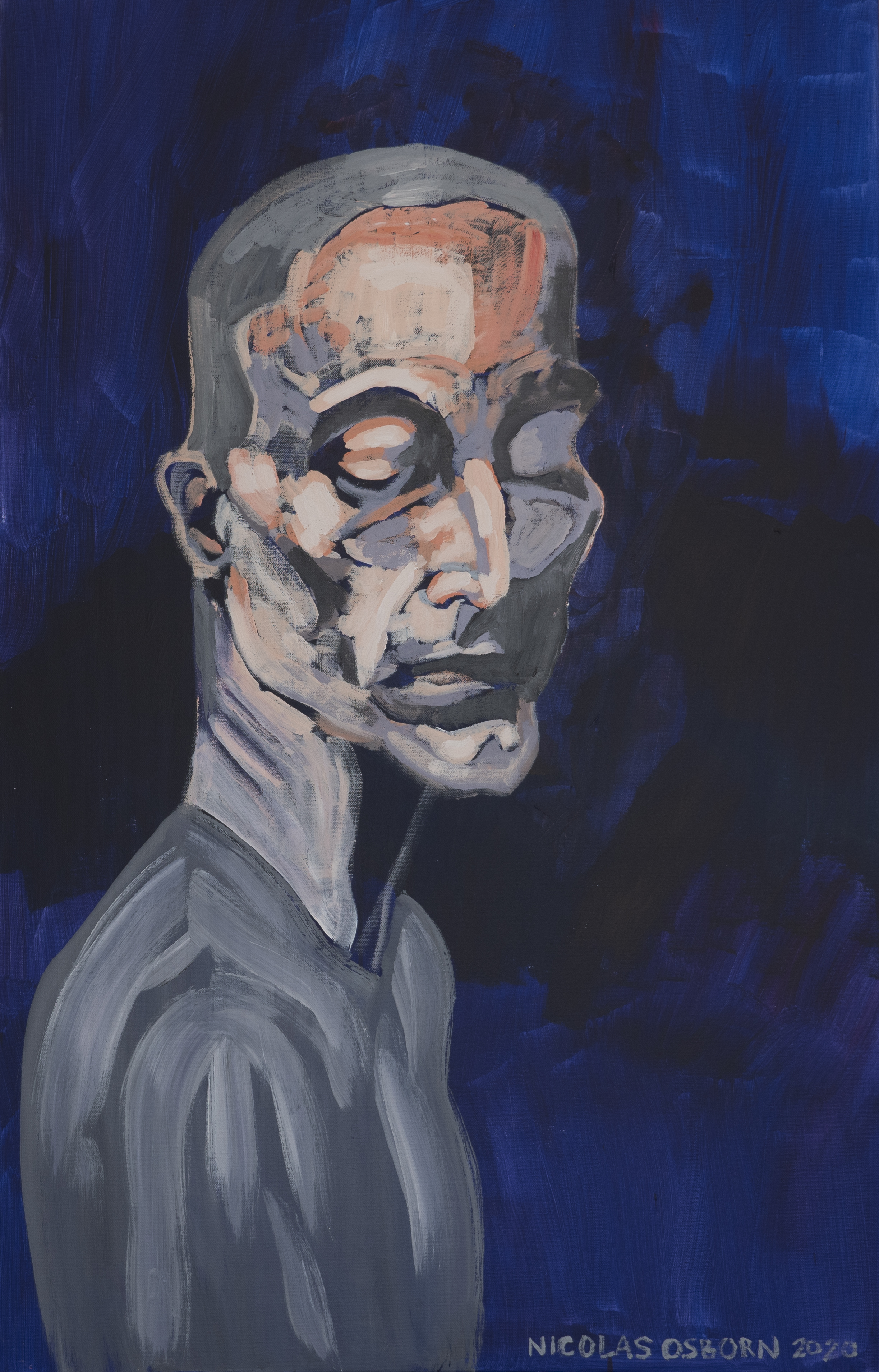 Homme aux Yeux Fermés Painting Nicolas osborn