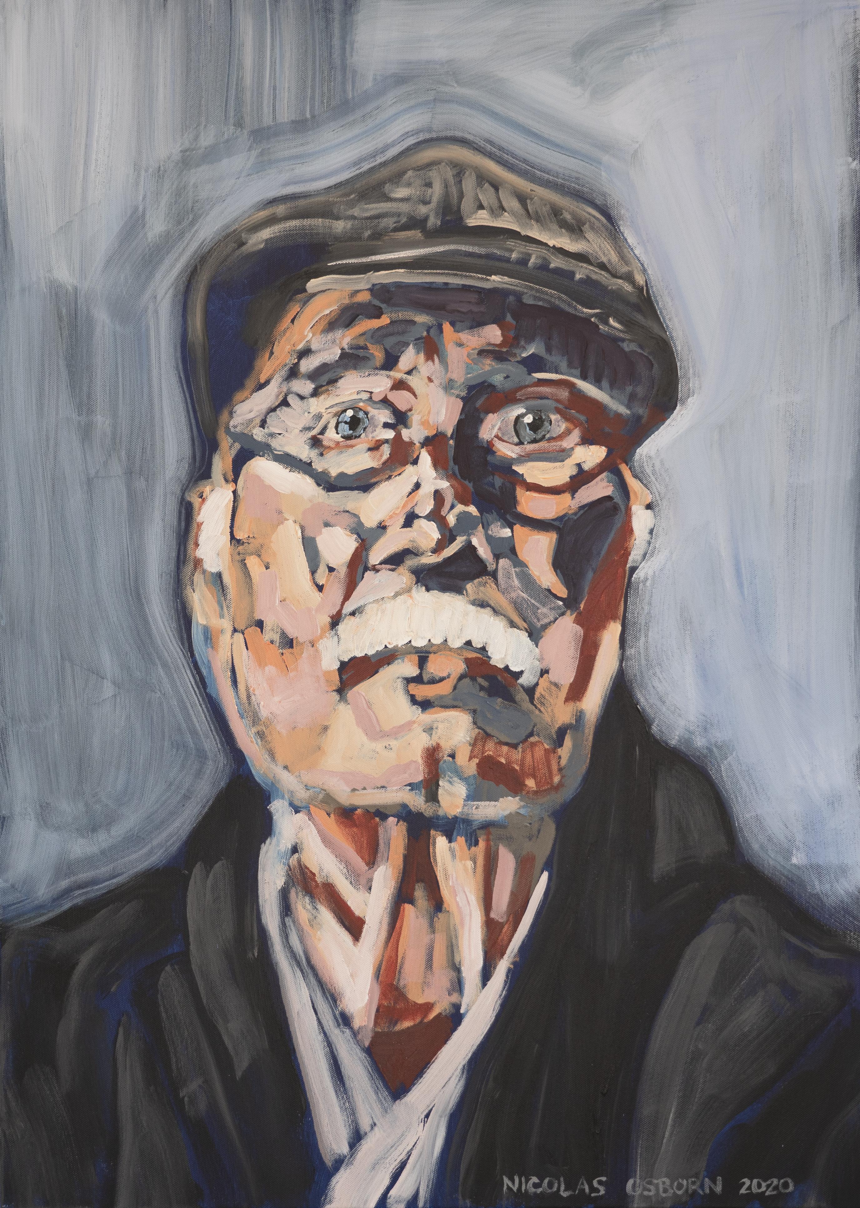 Homme sur Fond Gris Painting Nicolas Osborn